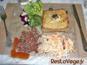 Assiette gratin et salade